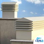 لوور هوارسان پشت بامی شرکت تهویه نو آستیاک (کانال هوا،دریچه تنظیم هوا،دمپر،دودکش و کانال سازی)
