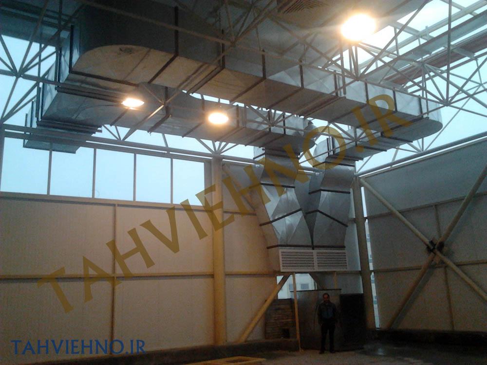 بازارچه جنت آباد کانال هواساز 1 کانال سازی کانال انتقال هوا