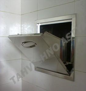 chut12 281x300 انواع شوت زباله ساختمانی